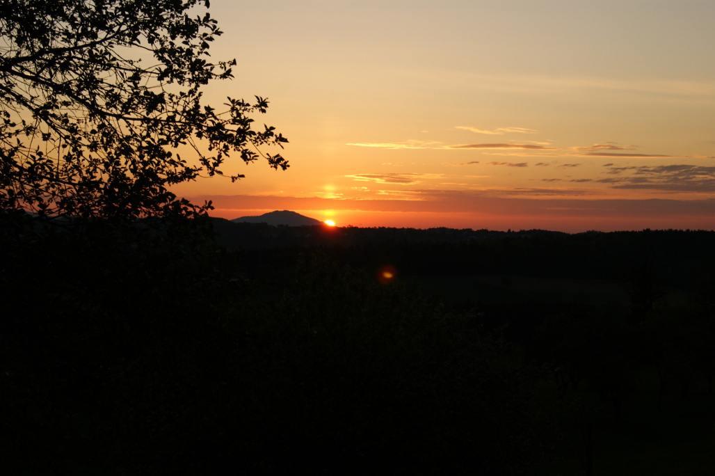 Sonnenuntergang im Vulkanland